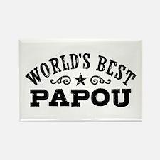 World's Best Papou Rectangle Magnet