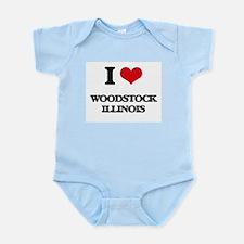 I love Woodstock Illinois Body Suit