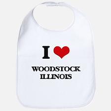 I love Woodstock Illinois Bib