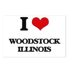 I love Woodstock Illinois Postcards (Package of 8)