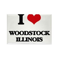 I love Woodstock Illinois Magnets