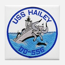 USS HAILEY Tile Coaster