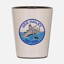 USS HAILEY Shot Glass