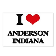 I love Anderson Indiana Postcards (Package of 8)