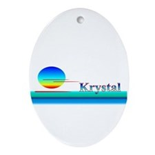 Krystal Oval Ornament