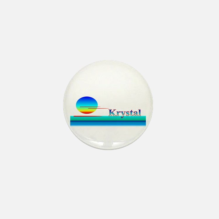 Krystal Mini Button