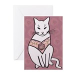 Rose Cat Greeting Cards