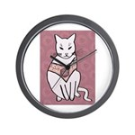 Rose Cat Wall Clock