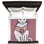 Rose Cat King Duvet