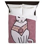 Rose Cat Queen Duvet