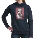 Rose Cat Women's Hooded Sweatshirt
