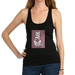 Rose Cat Racerback Tank Top