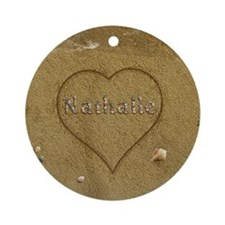 Nathalie Beach Love Ornament (Round)