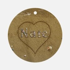Nate Beach Love Ornament (Round)