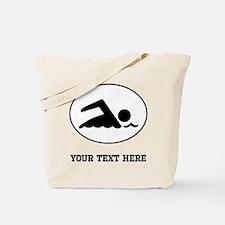 Swimmer Oval (Custom) Tote Bag