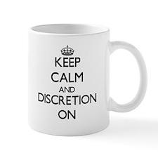 Keep Calm and Discretion ON Mugs