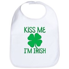 Cute Kiss me i'm irish Bib