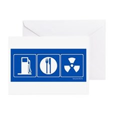 Gas Food Radiation Greeting Cards (Pk of 20)