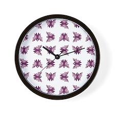 PURPLE RIBBON Wall Clock