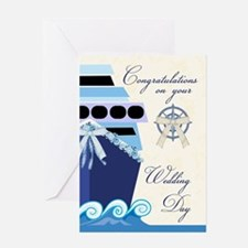 Cruise Ship Wedding Congratulations Greeting Cards