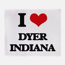 I love Dyer Indiana Throw Blanket