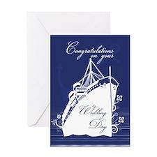 Cruise Ship Wedding Congratulations Greeting Cards