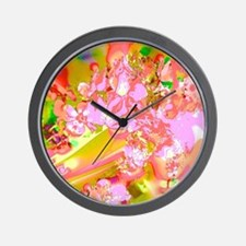 Abstract Spring Colors Wall Clock