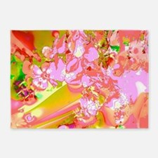Abstract Spring Colors 5'x7'Area Rug