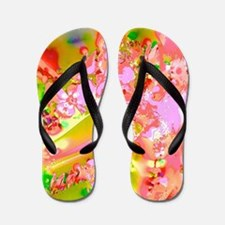 Abstract Spring Colors Flip Flops