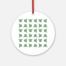 MINT GREEN RIBBON Ornament (Round)