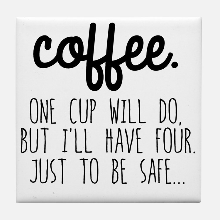 Cute Coffee Tile Coaster
