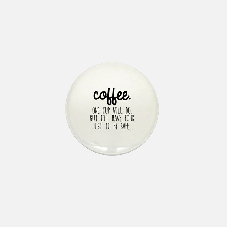 Cute Coffee Mini Button