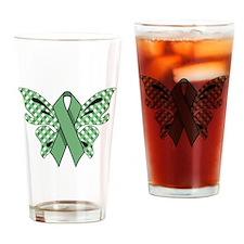 MINT GREEN RIBBON Drinking Glass