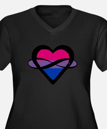 Bi Poly Heart (Without Text) Plus Size T-Shirt