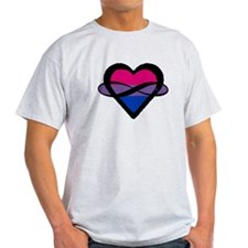 Bi Poly Heart (Without Text) T-Shirt