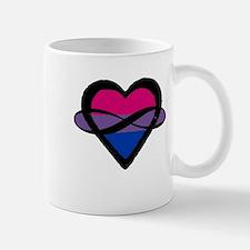Bi Poly Heart (Without Text) Mugs