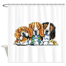 3 Beagles Shower Curtain