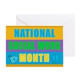Social worker month card Greeting Cards