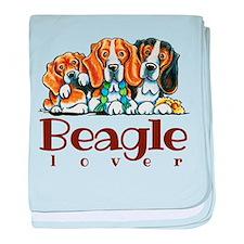 Beagle Lover baby blanket