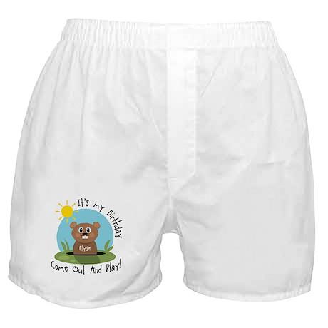 Elyse birthday (groundhog) Boxer Shorts