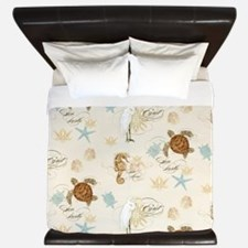 Cute Sea shells King Duvet