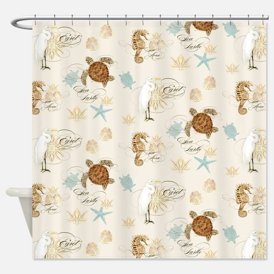 Cute Seahorse Shower Curtain