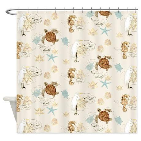Cute Sea Turtle Shower Curtain