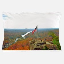 Above Chimney Rock Pillow Case