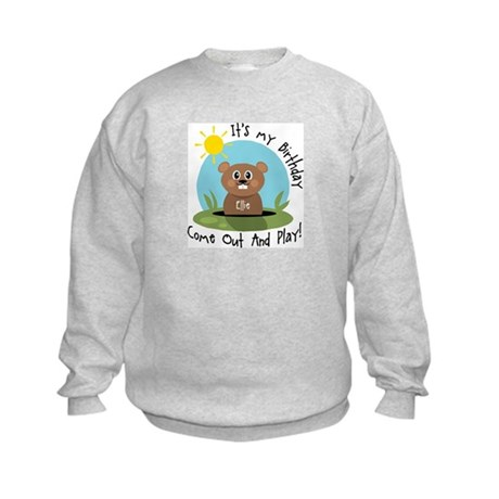 Ellie birthday (groundhog) Kids Sweatshirt