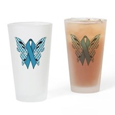 NEON BLUE RIBBON Drinking Glass