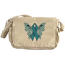 NEON BLUE RIBBON Messenger Bag