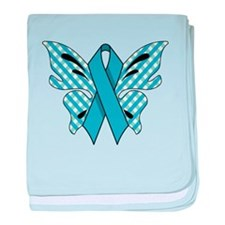 NEON BLUE RIBBON baby blanket