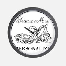 Future Mrs wedding bride Wall Clock