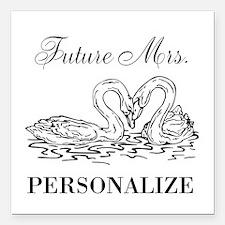 """Future Mrs wedding bride Square Car Magnet 3"""" x 3"""""""